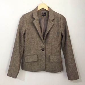 Paper Doll Brown Tweed Jacket Size Small